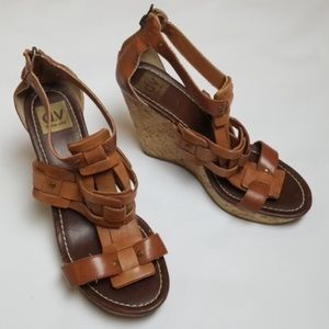 Dolce Vita leather wedges size 9